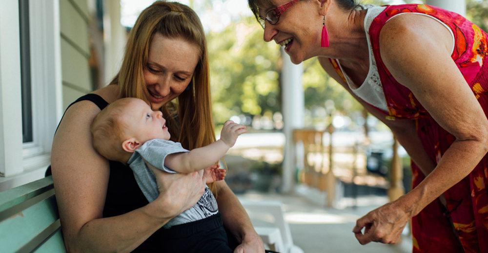 grandma and mommy with baby spokane wa